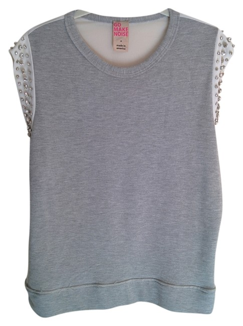 Item - Grey and White Tee Shirt Size 8 (M)
