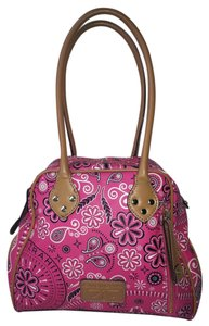 Isaac Mizrahi Live! Paisley Gold Hardware Pattern Satchel in Pink