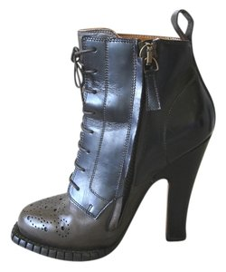 Rochas Black Brown Lace-up black brown Boots