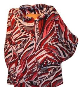 Kenneth Cole Men's Button Down Button Down Shirt WILD & BOLD Red Multi