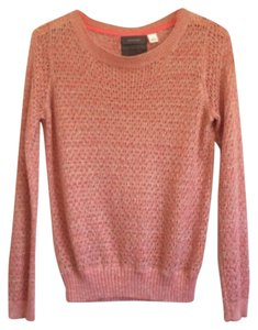Anthropologie Guinevere Coral Crew Classic Sweater