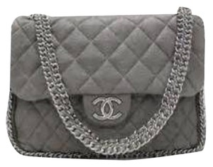 Chanel Chain Taupe Leather Classic Shoulder Bag