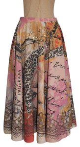 Anthropologie Full Circle Printed Embellished Skirt multi