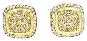 David Yurman David Yurman Albion Pave Diamond Earrings in 18k Yellow Gold