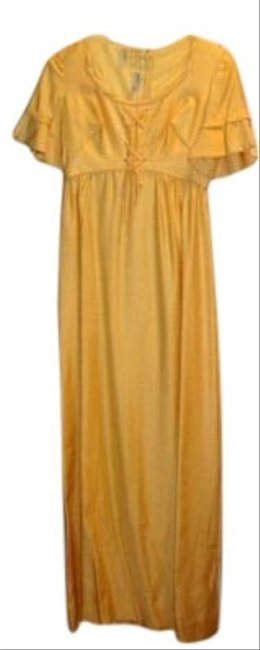 Preload https://item2.tradesy.com/images/vintage-designer-maxi-gown-s-marigold-yellow-long-formal-dress-size-4-s-116356-0-1.jpg?width=400&height=650