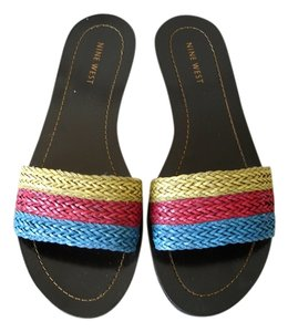 Nine West Slide tricolor Flats