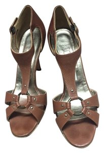Manolo Blahnik Leather Tobacco Sandals