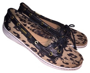 Coach Brown Animal Print Flats