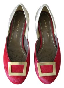 Hair Calf red gold Flats
