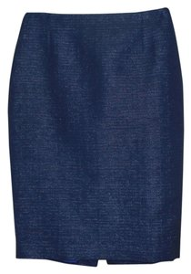 Elie Tahari Skirt Dark Blue