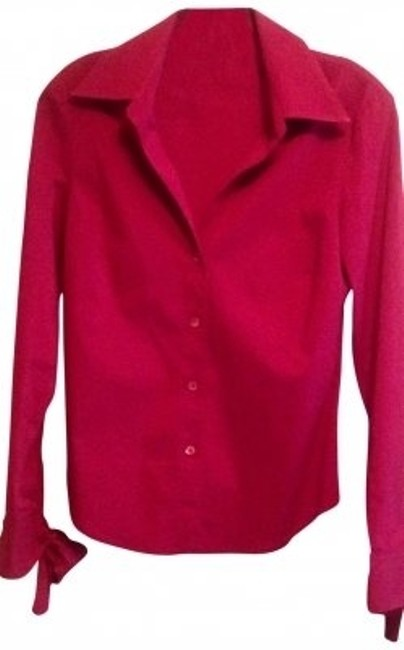 Preload https://img-static.tradesy.com/item/116372/bcbgmaxazria-red-long-sleeve-wbows-button-down-blouse-size-4-s-0-0-650-650.jpg