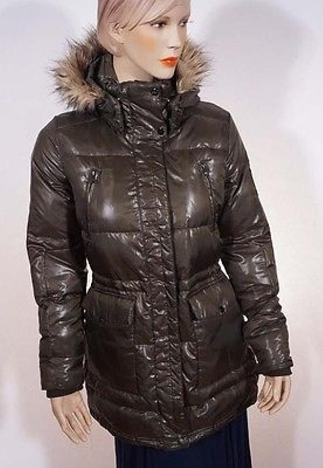 330f4a12b66 Ralph Lauren Womens Litchfield Linden Green Down Puffer Hood Jacket Coat