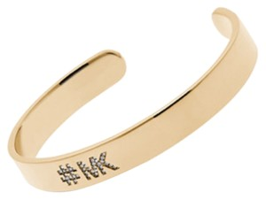 Michael Kors Michael Kors Gold Tone Burnished Cuff Bracelet