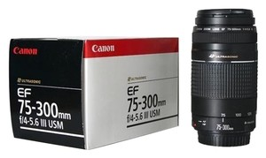 Canon Canon EF 75-300 mm f/4 - 5.6 III Zoon Camera Lens