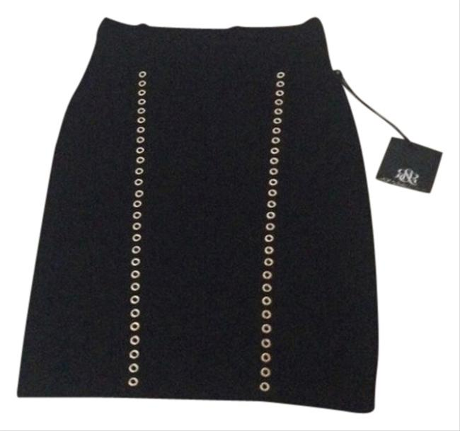 Rock & Republic Skirt Black With Gold Detail