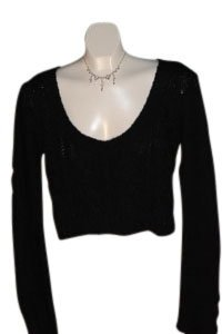 Xhilaration Short Xxl Wide Neck Cabel Knit Sweater