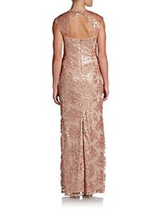 Adrianna Papell Petal Nylon/Cotton/Acetate/Polyester Sequined Gown 0491606452292 Formal Bridesmaid/Mob Dress Size 14 (L)