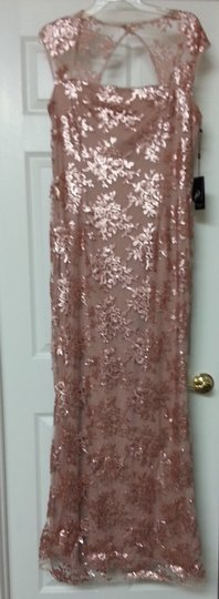 Adrianna Papell Petal Nylon/Cottocetate/Polyester Sequined Gown 0491606452292 Formal Bridesmaid/Mob Dress Size 14 (L)