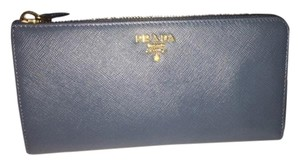 Prada BRAND NEW PRADA SAFFIANO LEATHER MARINE CONTINENTAL WALLET