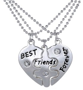 nwot sterling silver 925 925 necklace pendant FAMILY crystal silver mother daughter daughters best friend heart angel