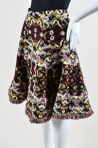 Andrew Gn Multicolor Jacquard Skirt Multi-Color