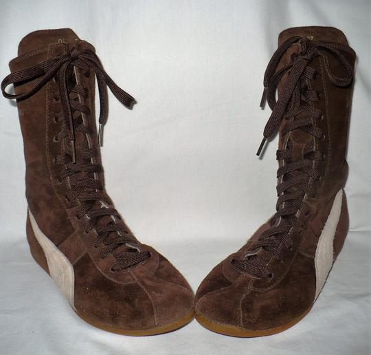 Puma Limited Edition Special Edition Rare Collectible Vintage Brown Suede Boots