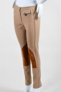 Derek Lam Camel Wool Suede Panel Jodphur Riding Pants