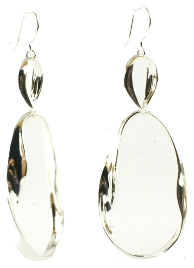 Ippolita Ippolita Earrings Sterling Silver Irregular Twisted Venezia Drop Earrings .925