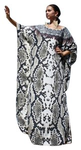 Royal Python. Maxi Dress by Victoria Luxury Silk Kaftan Crystal 100%
