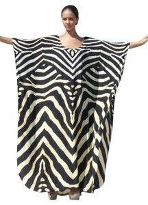 Zebra Maxi Dress by Victoria Luxury Silk Kaftan Embellished Kaftan