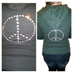 Twisted Heart Peace Sign Sweatshirt