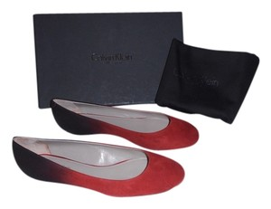 Calvin Klein Collection Alba Ii Made In Italy Red Flats