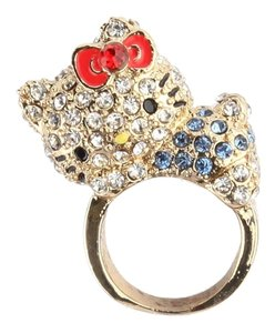 Other Sanrio Hello Kitty Pave Ring: Pose - Ring Size 5.5