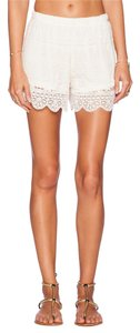 Band of Gypsies Lace Scalloped Lace Coachella Shorts White