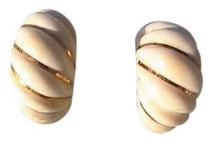 Other Vintage 585 Celluloid Clip On Earrings