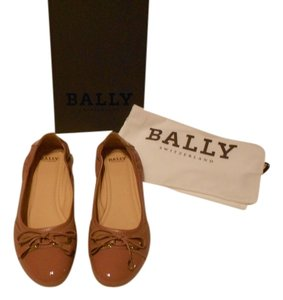 Bally Soft Leather Mauve Family Contrast Stitching Comfortable Made In Italy Pink Flats
