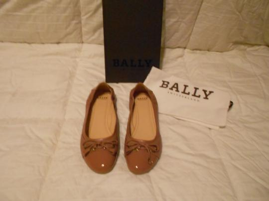 Bally Soft Leather Mauve Family Contrast Stitching Comfortable Made In Italy Pink Flats Image 3