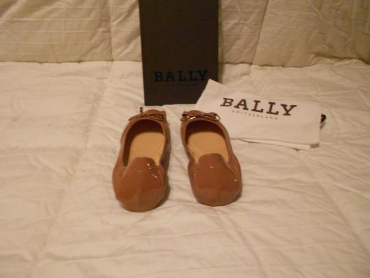 Bally Soft Leather Mauve Family Contrast Stitching Comfortable Made In Italy Pink Flats Image 4