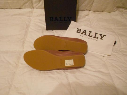 Bally Soft Leather Mauve Family Contrast Stitching Comfortable Made In Italy Pink Flats Image 5