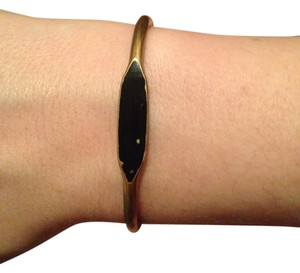Anthropologie Anthropologie Brass Black Tiny Bracelet