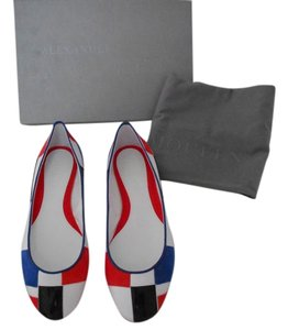 Alexander McQueen Multi Pattern Sophisticated Made In Italy White/Multi Flats