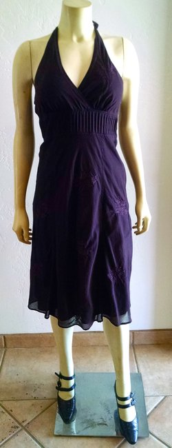 Express Halter Size 8 Dark Mid Calf Length Dress