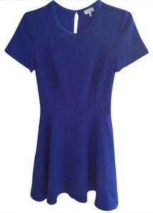 Marabelle short dress Blue Cobalt Textured Knit Flare Xs on Tradesy