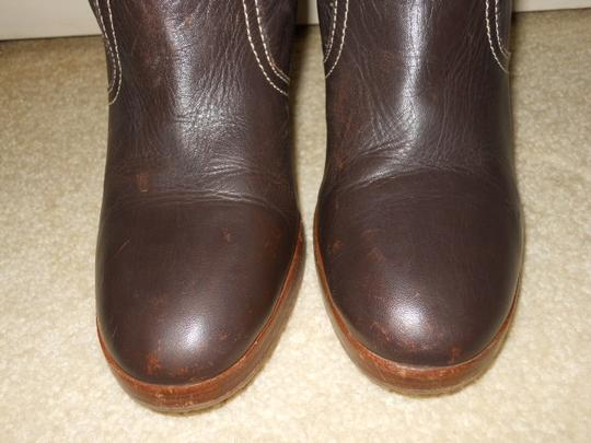 American Eagle Outfitters Leather Midcalf brown Boots
