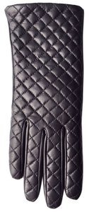Hilts-Willard Quilted Sheepskin Gloves, Black, M