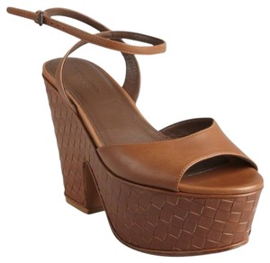 Bottega Veneta Woven Leather Brown Sandals