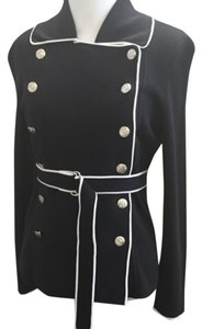 Bloomingdale's Belted Embellished Pettite Empire Waist Sweater