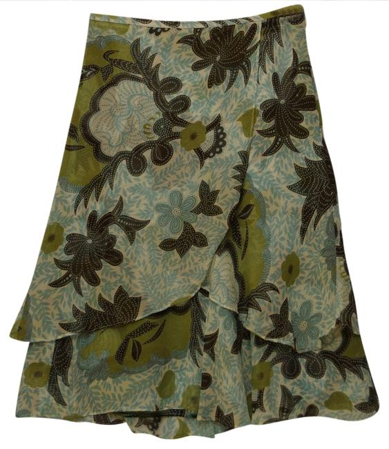 Ann Taylor Tiered Print Skirt retro