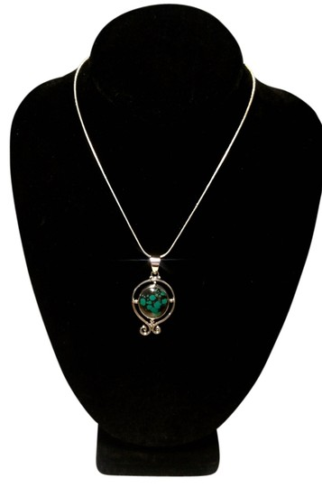 Preload https://img-static.tradesy.com/item/11652658/turquoise-silver-sterling-gemstone-pendant-in-a101-necklace-0-1-540-540.jpg