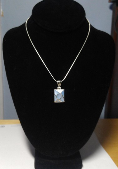 Other Sterling Silver Shell Pendant Necklace 18 in. A102 Image 3